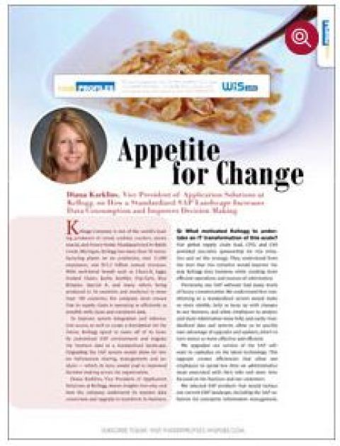 Appetite for Change – How A Standardized SAP Landscape Increases Data Consumption at Kelloggs